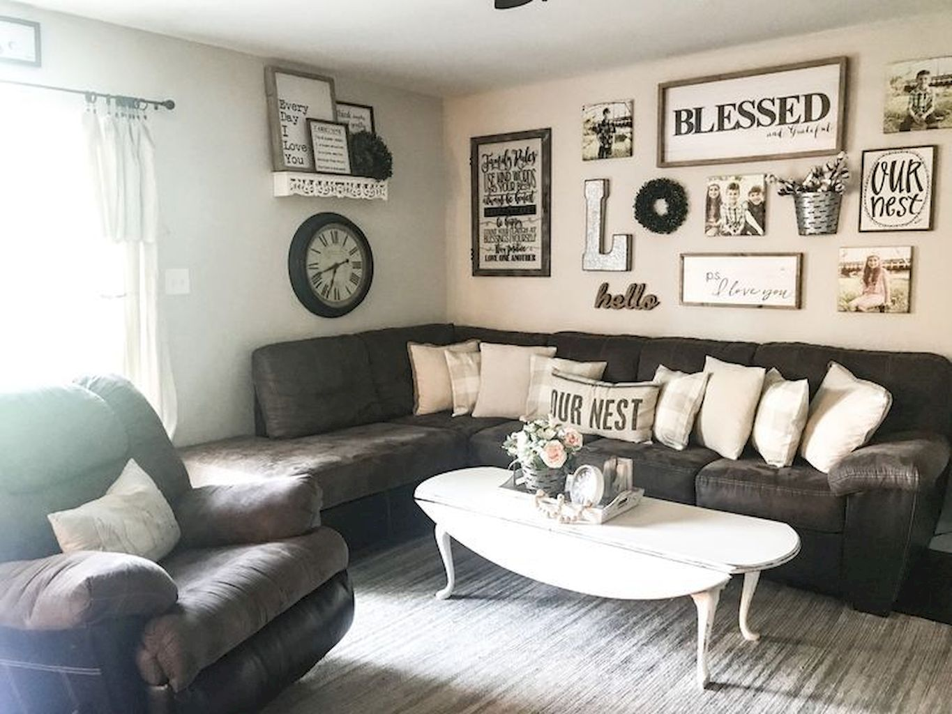 Monochrome Farmhouse Living Room