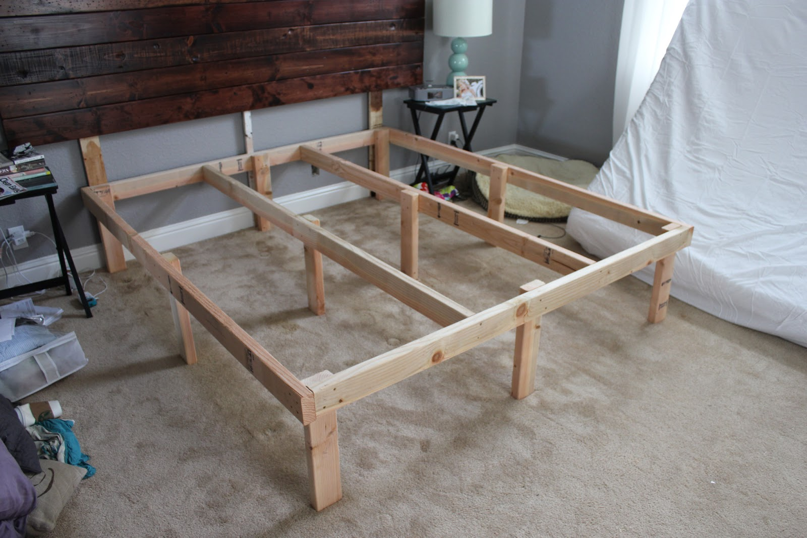 DIY King Bed Frame