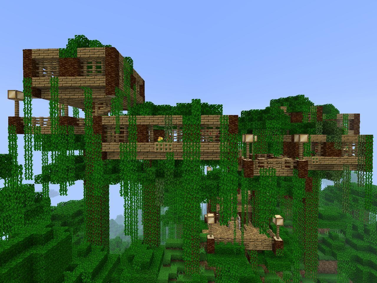 Green Minecraft Home Ideas