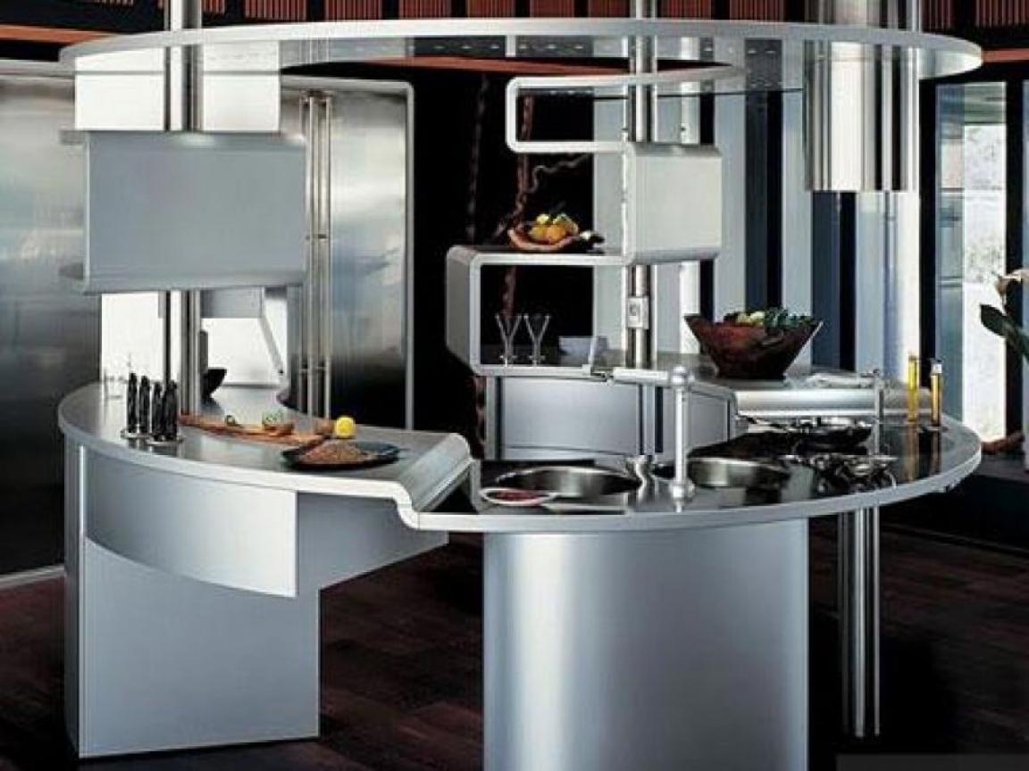 Futuristic Gray Kitchen