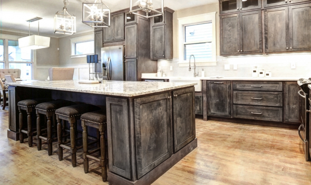 Rustic Gray Cabinet