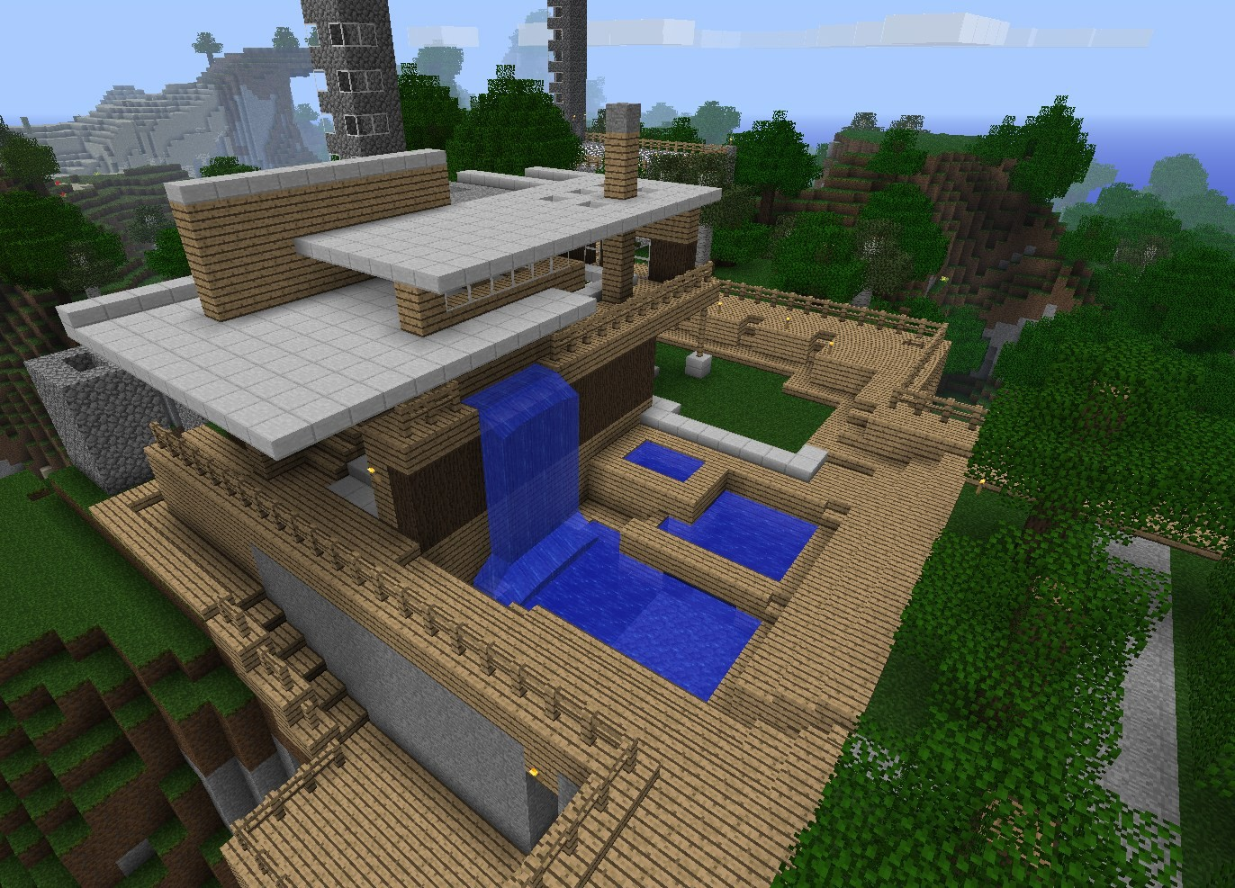 Minecraft House Design Tab Wallpapers