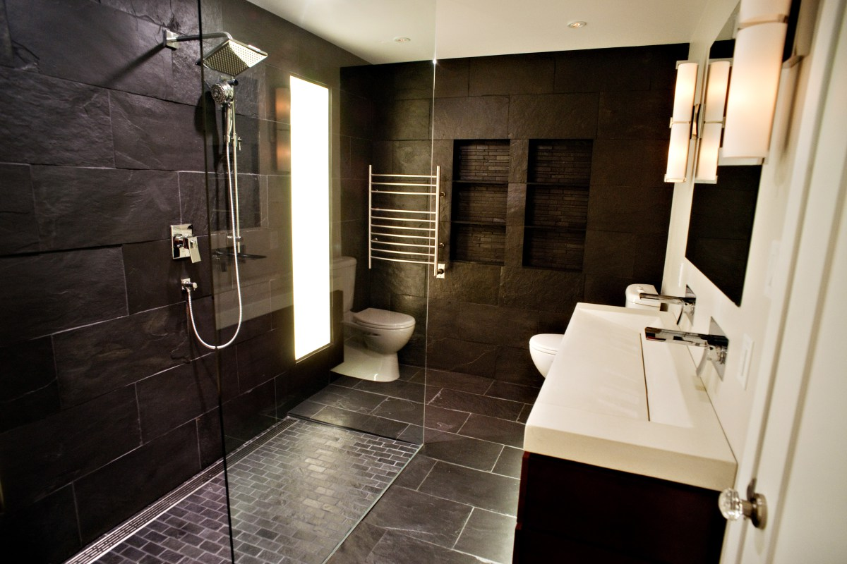 Master Bathroom Ideas Dark
