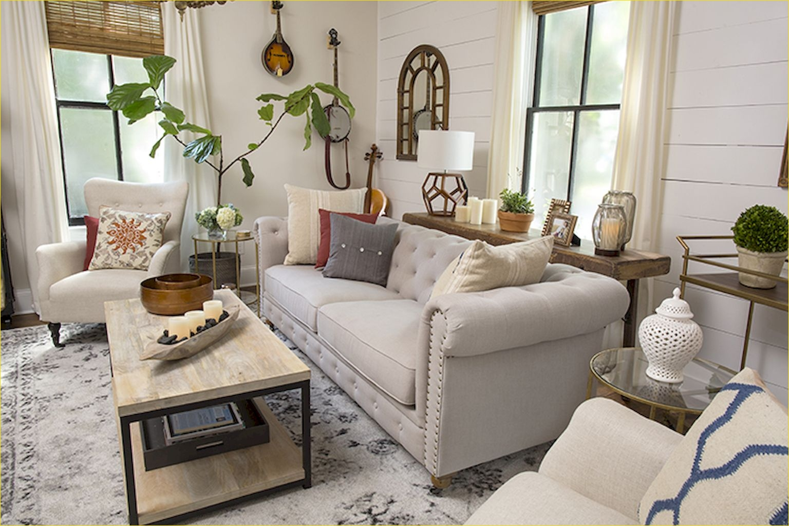 20 Farmhouse Living Room Ideas Rustic And Modern Style