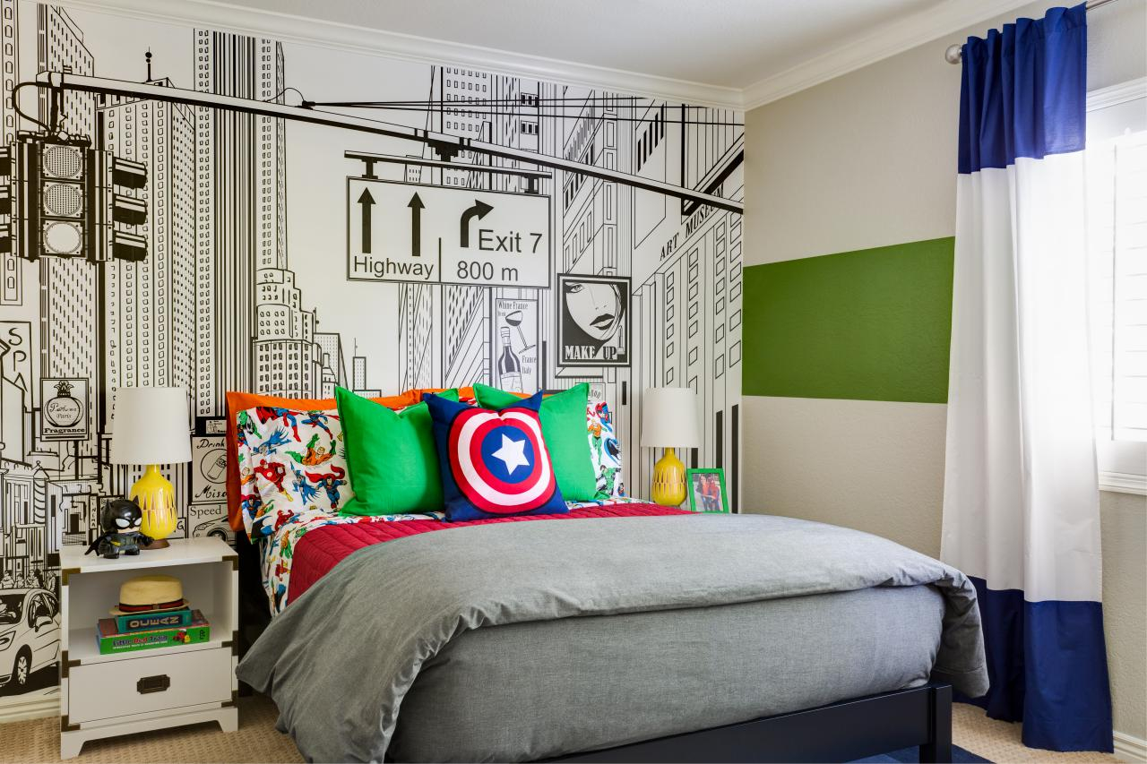 Superhero Mens Bedroom Ideas