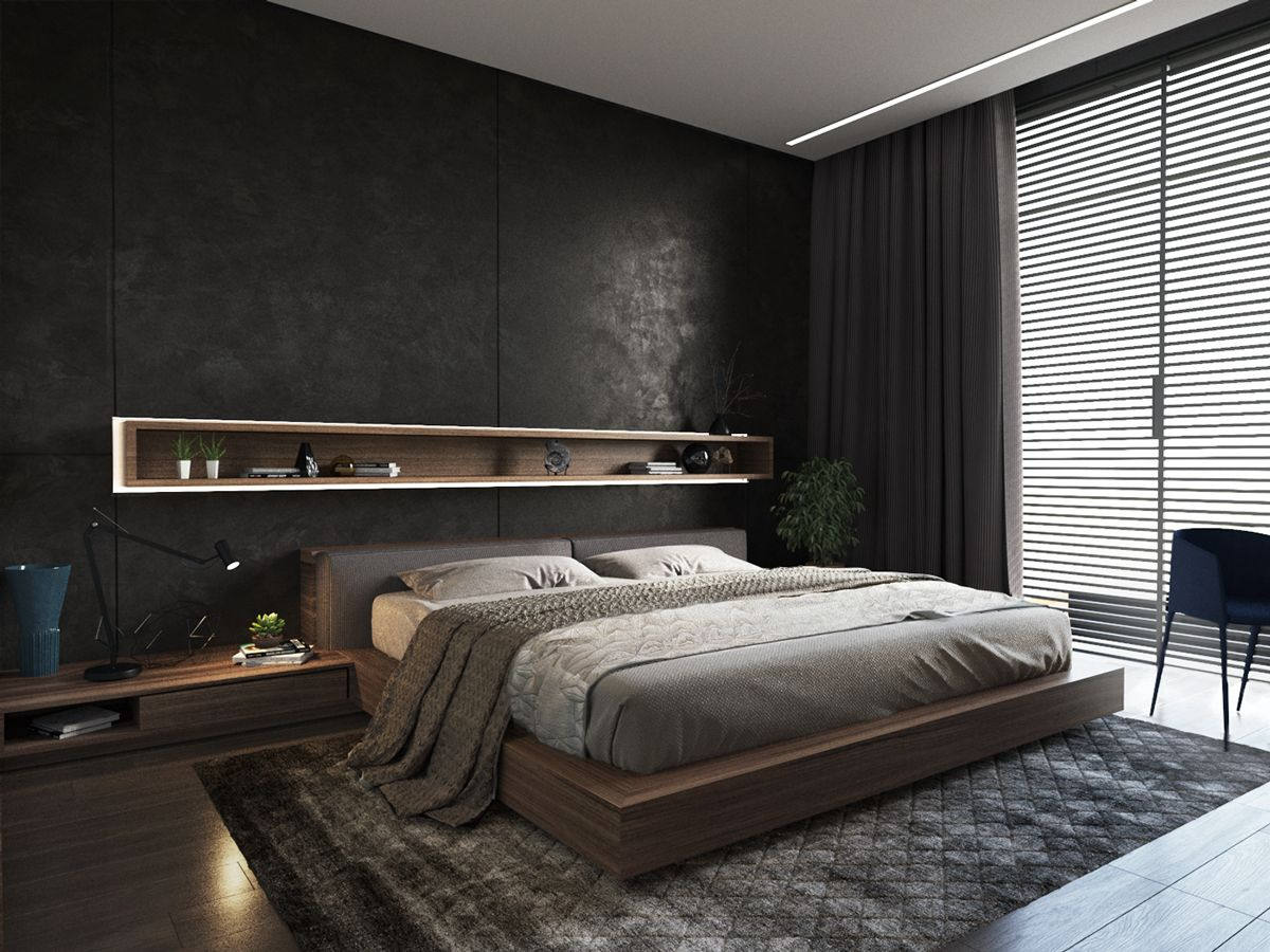 Mens Bedroom Ideas Grey