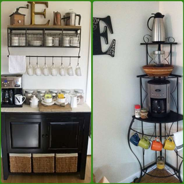 DIY to organize a coffee bar station
