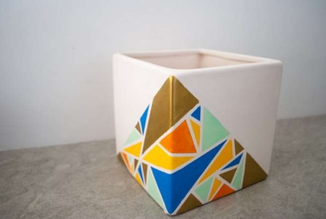 DIY geometric planter