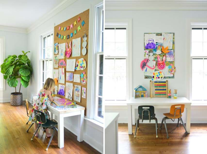 Kids' areas cork board ideas