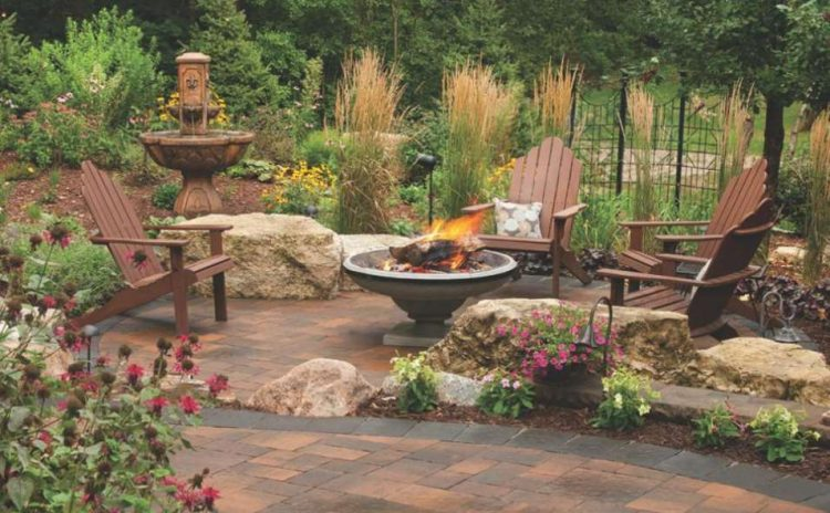 21+ Stunning Picture Collection for Paving Ideas ... on Pavers Patio With Fire Pit id=96464