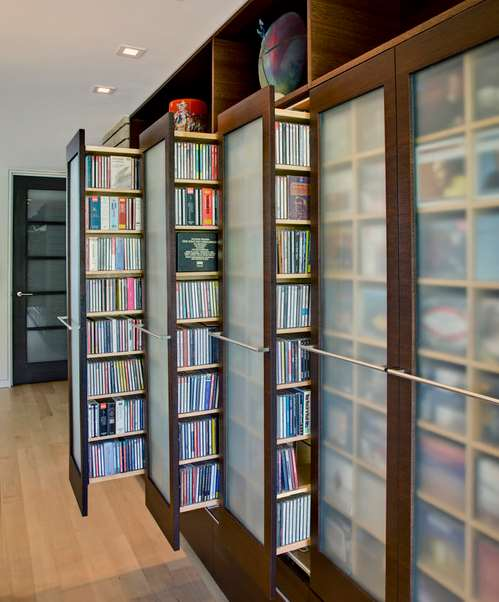 Phoenix home's hidden DVD storage ideas
