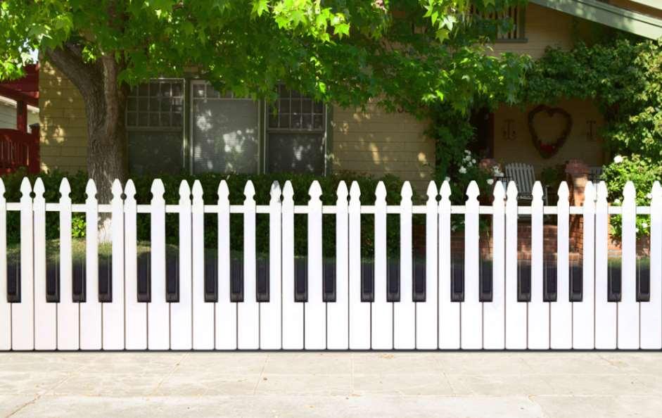 Piano Key Fence