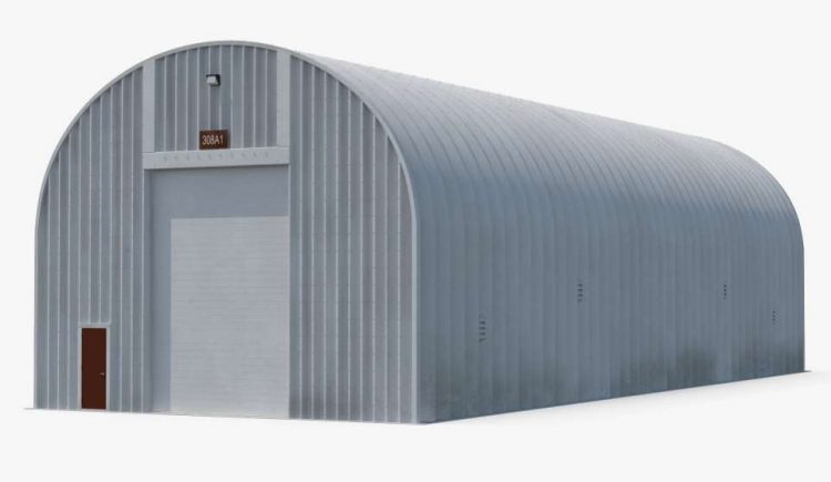 Quonset Hut Utility Building by 3d