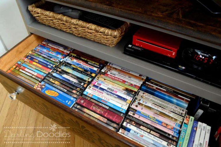 Store your DVDs in binders