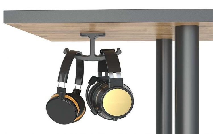 Under Desk Headset Stand