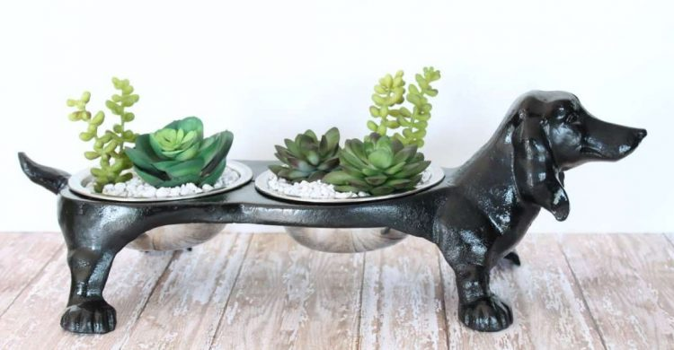 dog Standing Planter