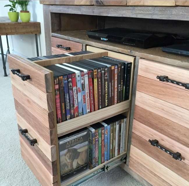 15 unique stylish cd and dvd storage ideas simply home - Unique dvd storage ideas ...