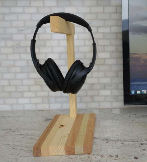homemade headphone stand