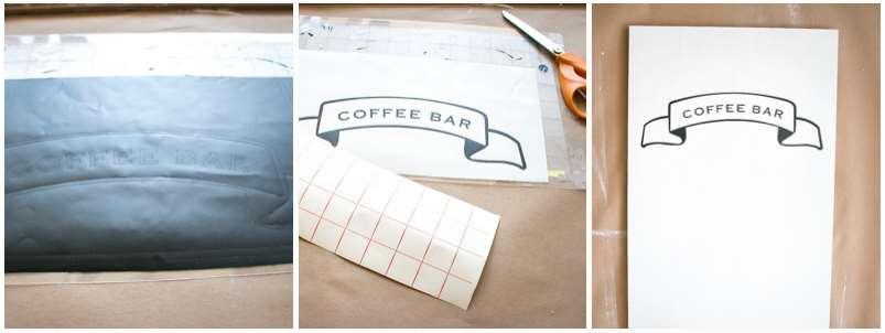 how to diy coffee bar design