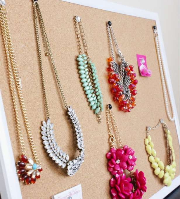 jewelry cork board ideas
