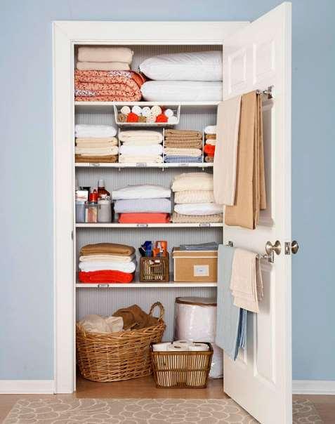 linen storage cabinet with doors