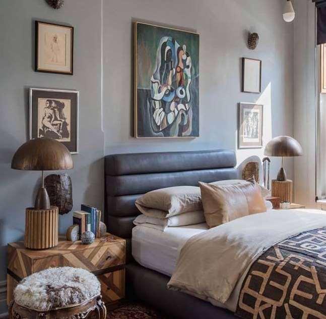 modern mid century bedroom