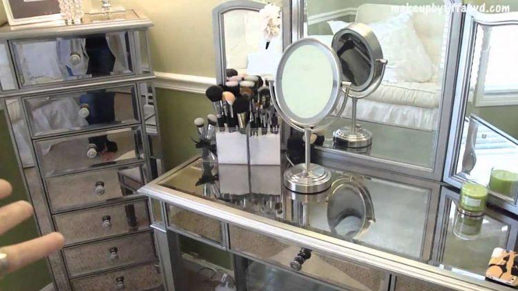 silver makeup room