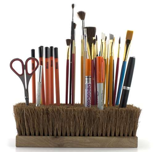 small brushes makeup storage