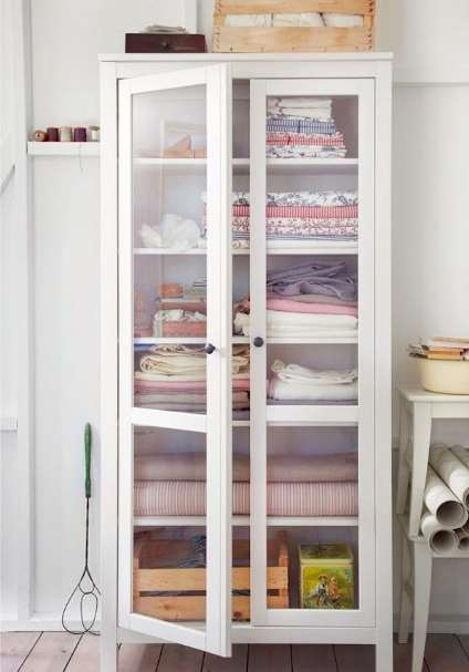 tall linen storage cabinet