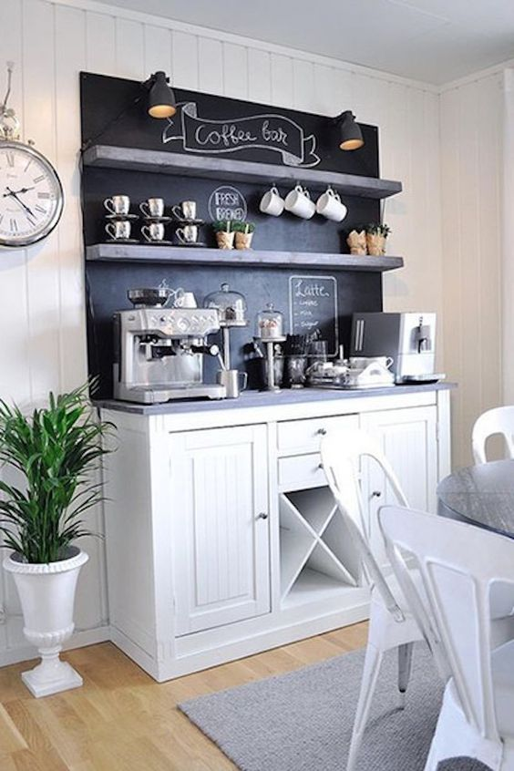 Black and White Coffee bar Ideas