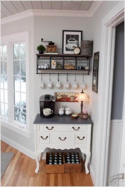 White Coffee Bar Ideas