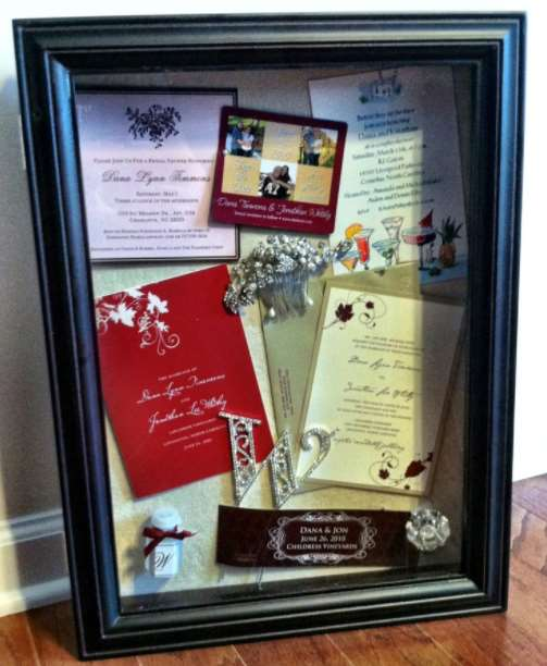 Wedding Bouquet Shadow Boxes