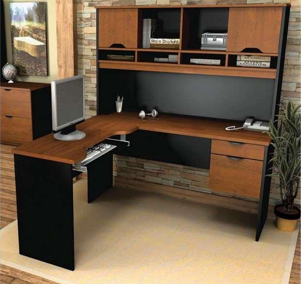 15 diy l shaped desk for your home office corner desk - Corner computer desk design plans ...