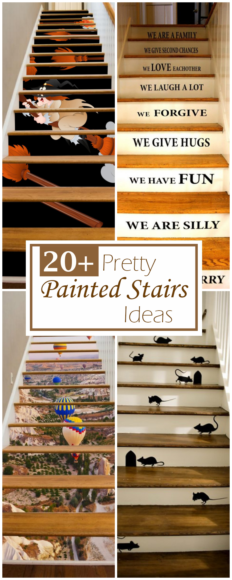 23 Pretty Painted Stairs Ideas