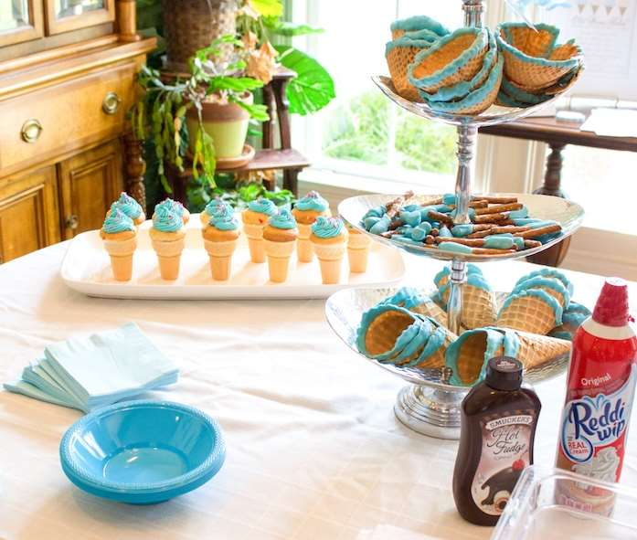 baby gender reveal party food ideas