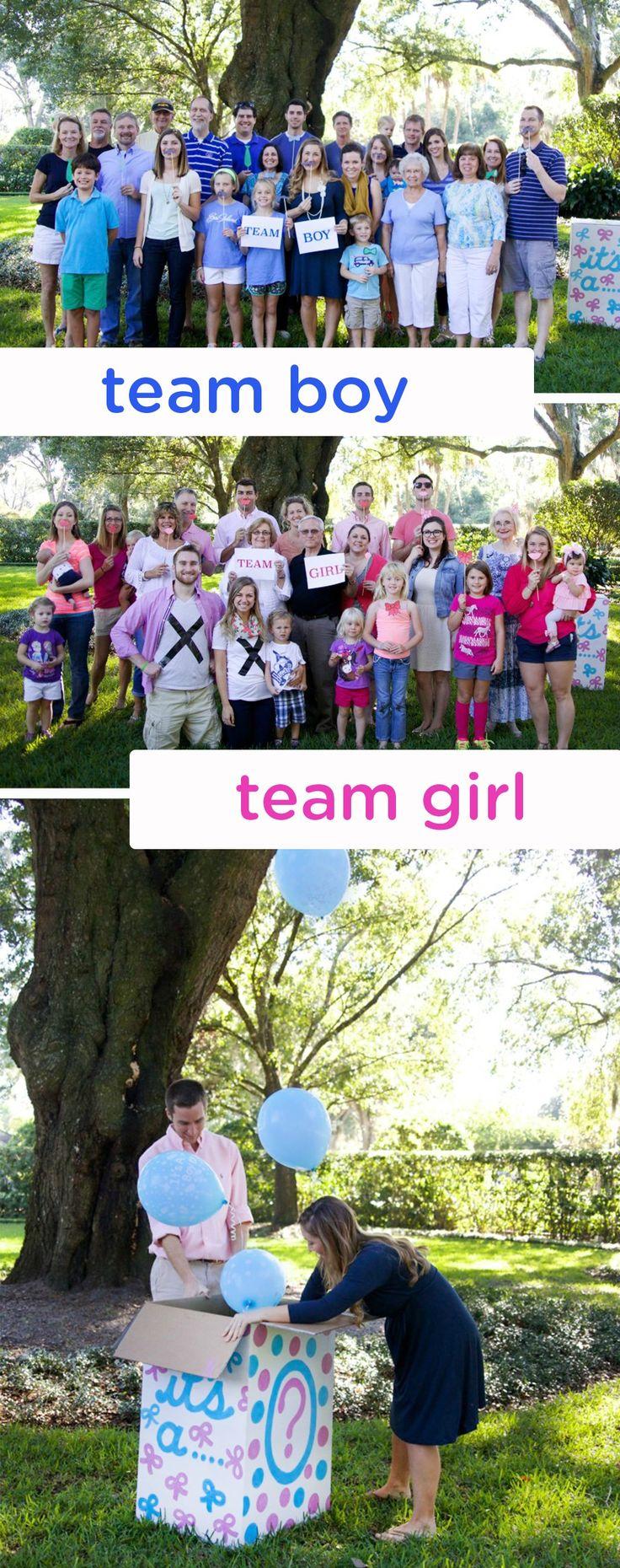 Gender Reveal Party team