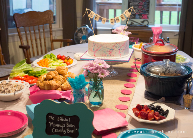 Gender Reveal food Because Mommy Loves You