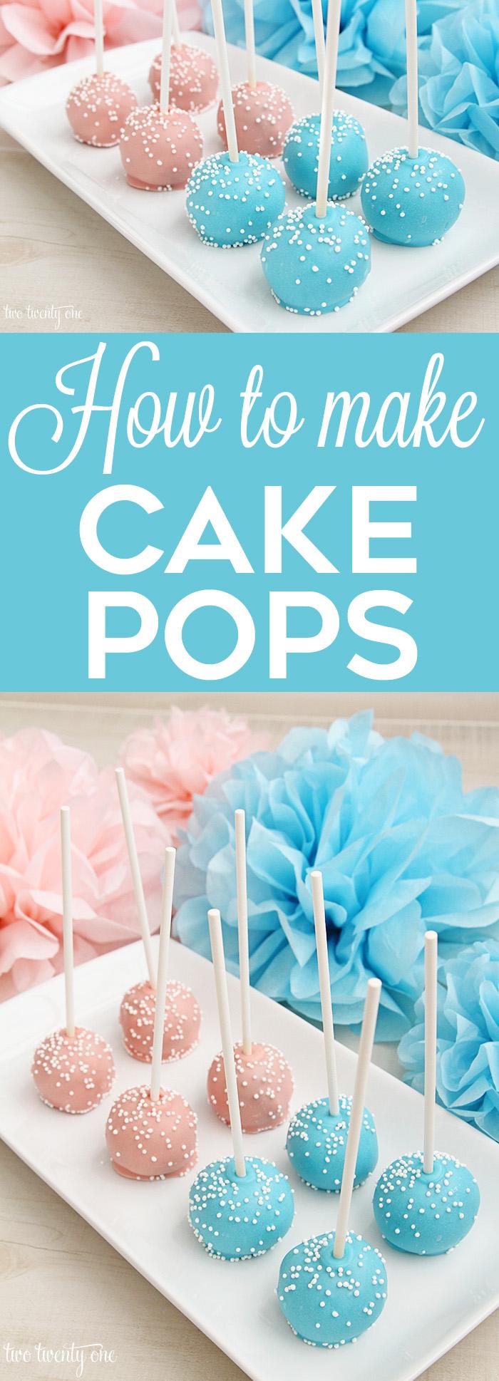 gender reveal-cake-pops