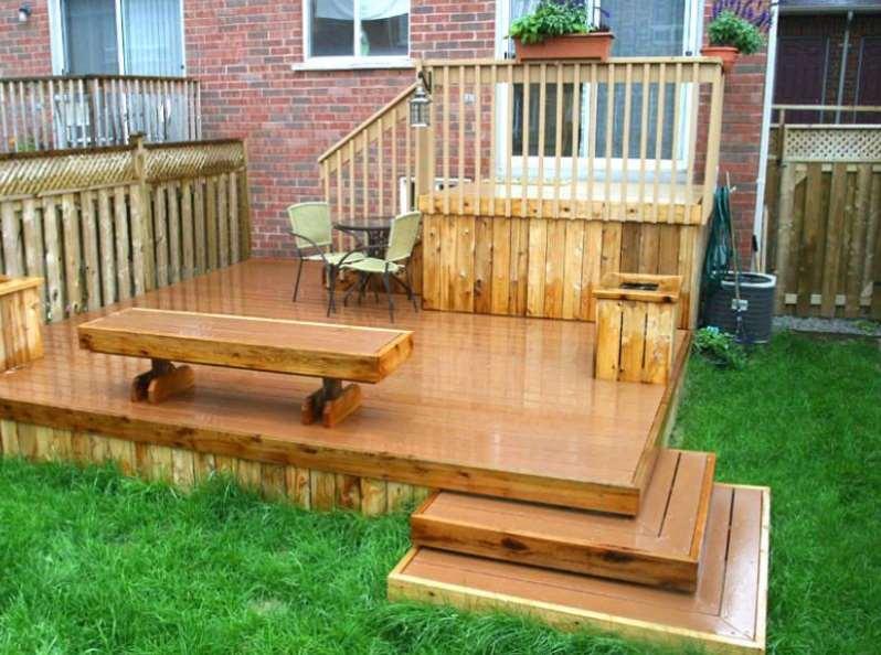 All Wooden Small Deck Ideas Backyard Decks
