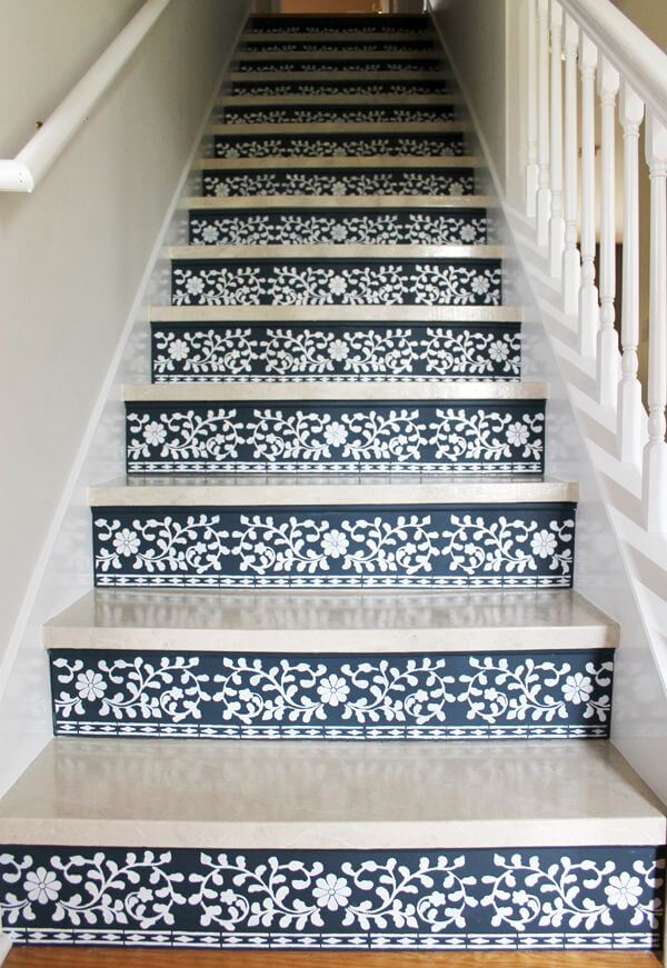 Cool-Pattern-Painted-Staircase-Ideas