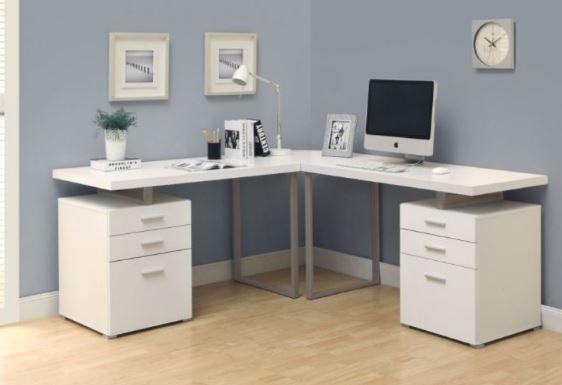 I Shaped DIY Computer Desk
