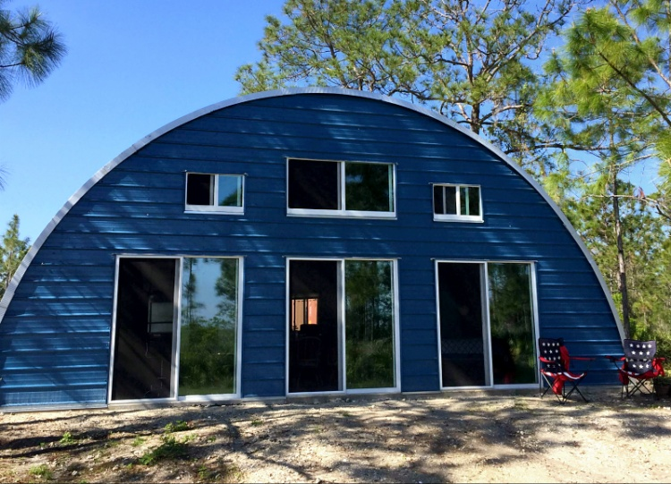 Image result for blue quonset hut homes