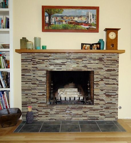 Image result for brick fireplace tiles