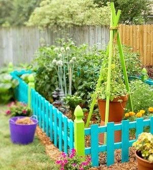Image result for colorful garden fences