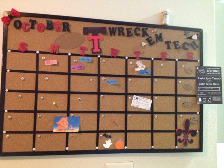 Image result for cork board calendar
