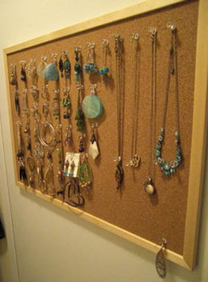 Image result for cork board jewelry holder