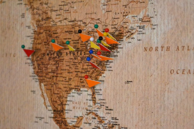 Image result for cork board travel map