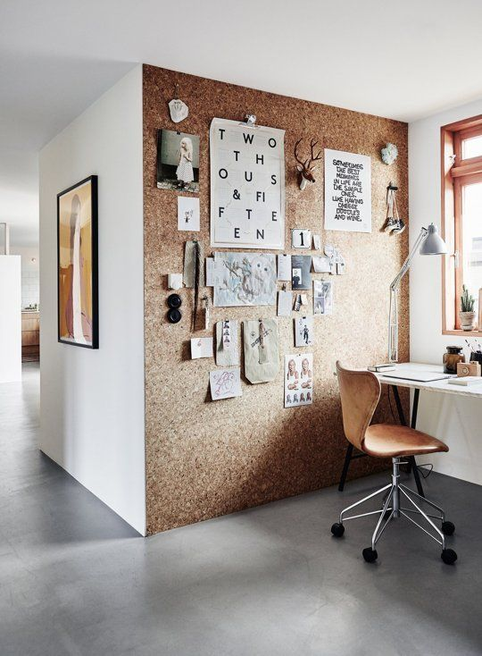 Image result for cork board wall