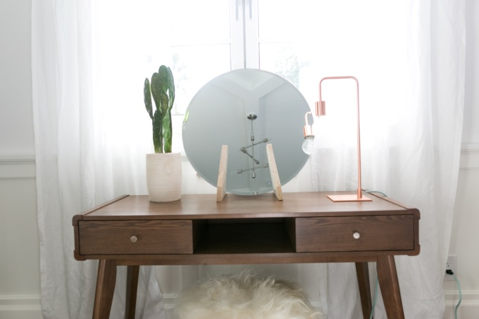 Image result for DIY minimalist vanity mirror