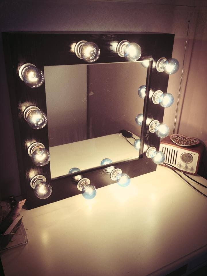 Image result for DIY vanity mirror light bulbs